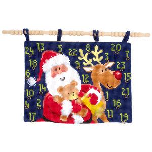 Vervaco Kruissteekwandtapijt Kit Kerstpakjes
