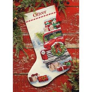 Dimensions Borduurpakket Santa's Truck Stocking - DIMENSIONS