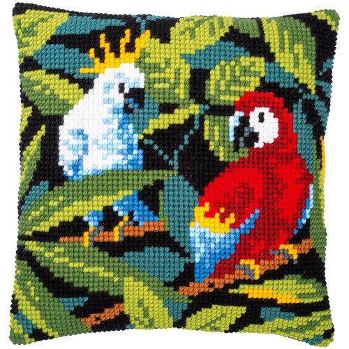 Vervaco Kruissteekkussen kit Tropische Vogels