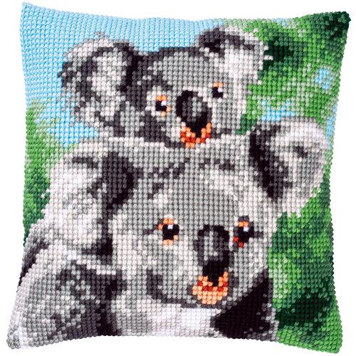 Vervaco Kruissteekkussen kit Koala met Baby