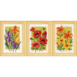 Vervaco Miniatuur kit Zonnebloemen set van 3