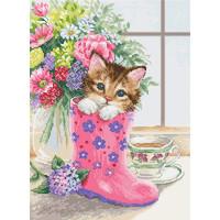 Borduurpakket Pretty Kitten - Luca-S