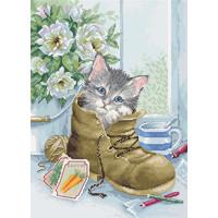 Borduurpakket Cute Kitten - Luca-S