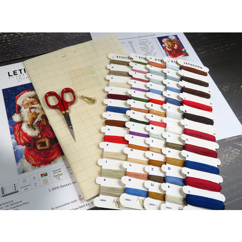 Leti Stitch Borduurpakket Santa's Secret - Leti Stitch