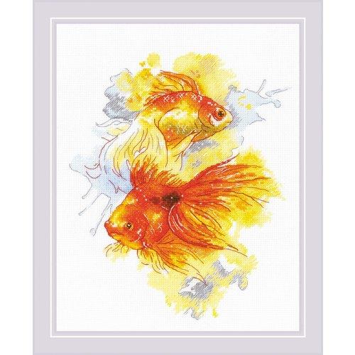 RIOLIS Borduurpakket Goldfishes - RIOLIS