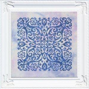 Ink Circles Borduurpatroon Ink Circles - Blue Velvet