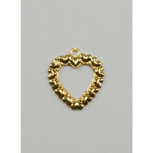 Charms: Gold Open Heart