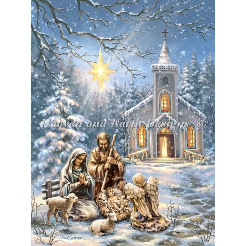 Heaven and Earth Designs  Dona Gelsinger: Mini Nativity at the Chapel