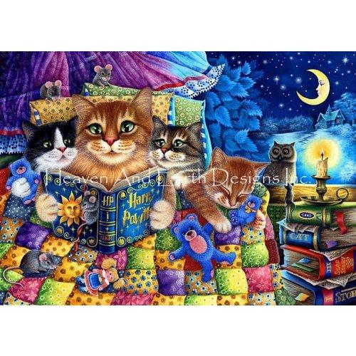 Heaven and Earth Designs  Irina Garmashova: Mini Cats Reading Max Colors