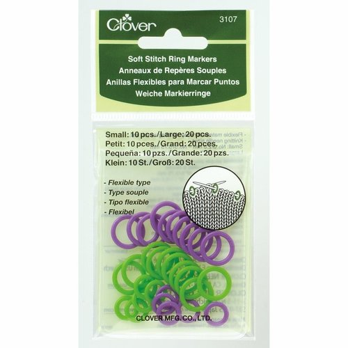 Clover Steekmarkeerders - Soft Stitch Ring Markers