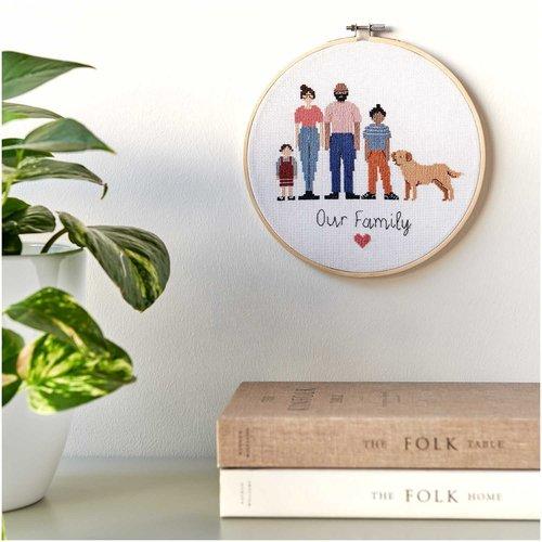 Rico Borduurpakket Figurico - Familie - 20 cm