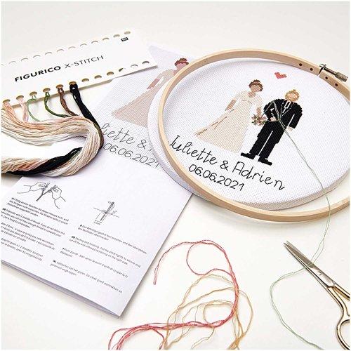 Rico Borduurpakket Figurico - Wedding - 20 cm