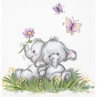 Borduurpakket Elephant Couple - Luca-S