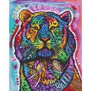 Leti Stitch Borduurpakket Curious Tiger - Leti Stitch