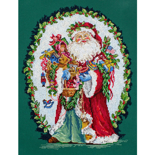 Leti Stitch Borduurpakket Jolly Saint Nick - Leti Stitch