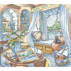 Leti Stitch Borduurpakket Window Seat - Leti Stitch