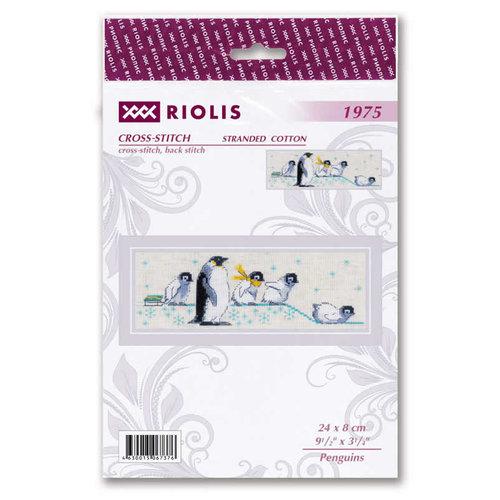 RIOLIS Borduurpakket Penguins - RIOLIS