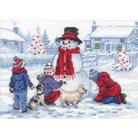 Borduurpakket Building a Snowman - DIMENSIONS