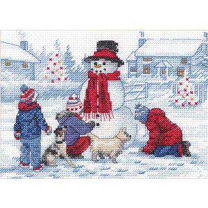 Dimensions Borduurpakket Building a Snowman - DIMENSIONS