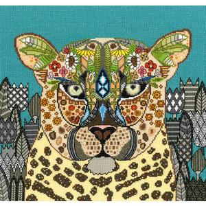 Bothy Threads Borduurpakket Sharon Turner  - Jewelled Leopard - Bothy Threads