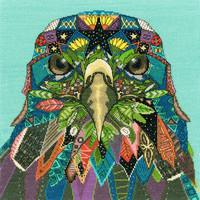 Borduurpakket Sharon Turner - Jewelled Eagle - Bothy Threads