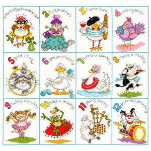 Bothy Threads Borduurpakket Margaret Sherry - Christmas Dozen - Bothy Threads