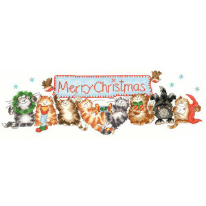 Bothy Threads Borduurpakket Margaret Sherry - Merry Catmas - Bothy Threads