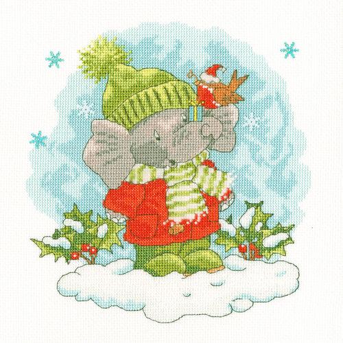 Bothy Threads Borduurpakket Simon Taylor-Kielty - Elly's Snow Day - Bothy Threads