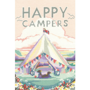 Bothy Threads Borduurpakket Becky Bettesworth - Vintage Camping - Bothy Threads