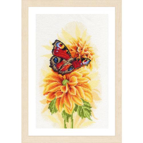 Lanarte Telpakket kit Fladderende vlinder (aida)