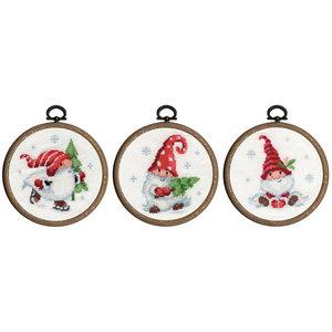 Vervaco Miniatuur kit Kerstkabouters set van 3