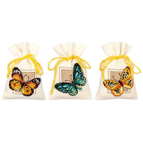 Vervaco Kruidenzakje kit Vlinders set van 3