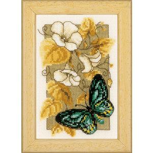 Vervaco Miniatuur kit Vlinders en bloemen I