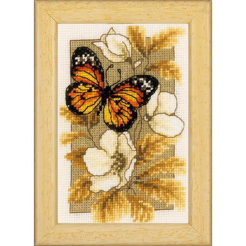 Vervaco Miniatuur kit Vlinders en bloemen III