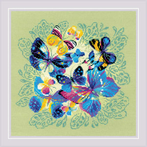 RIOLIS Borduurpakket Bright Butterflies - RIOLIS