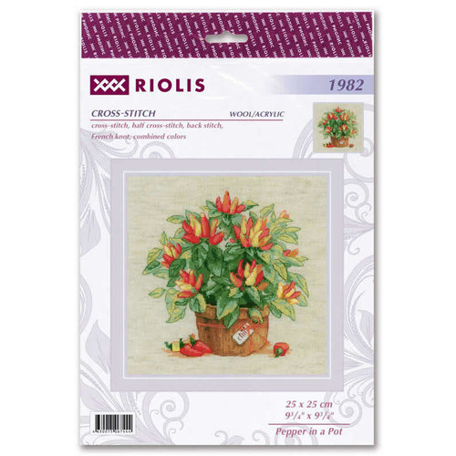 RIOLIS Borduurpakket Pepper in a Pot - RIOLIS