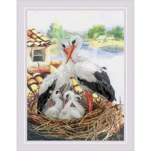 RIOLIS Borduurpakket Stork Family - RIOLIS