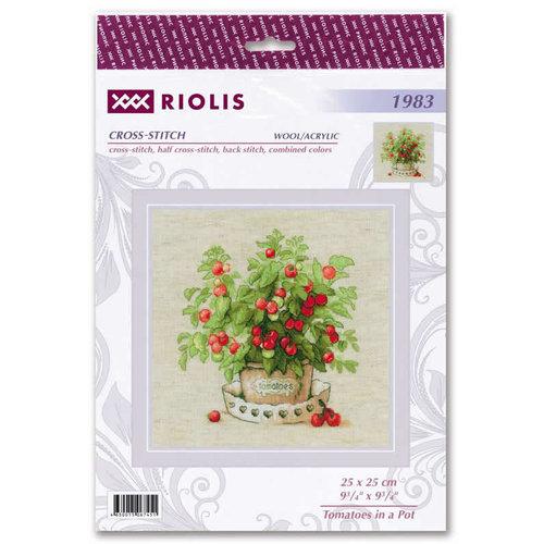 RIOLIS Borduurpakket Tomatoes in a Pot - RIOLIS