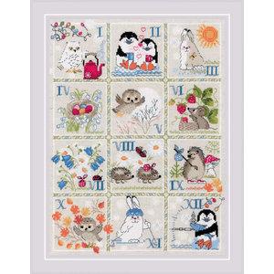 RIOLIS Borduurpakket Forest Calendar - RIOLIS