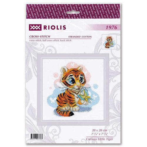 RIOLIS Borduurpakket Curious Little Tiger - RIOLIS