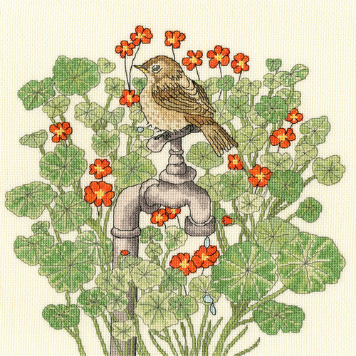 Bothy Threads Borduurpakket Fay Miladowska - Nasturtium Garden - Bothy Threads
