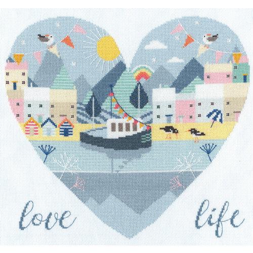 Bothy Threads Borduurpakket Hilary Yafai - Love Life - Bothy Threads