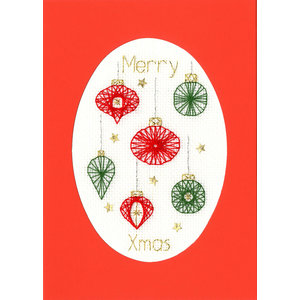 Bothy Threads Borduurpakket Bothy Designs - Christmas Baubles - Bothy Threads