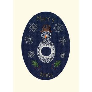 Bothy Threads Borduurpakket Bothy Designs - Christmas Snowman - Bothy Threads