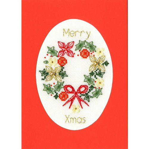 Bothy Threads Borduurpakket Bothy Designs - Christmas Wreath - Bothy Threads