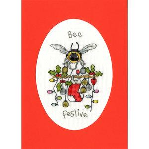 Bothy Threads Borduurpakket Eleanor Teasdale - Bee Festive - Bothy Threads