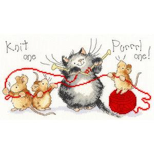 Bothy Threads Borduurpakket Margaret Sherry - Knit One Purrrl One - Bothy Threads