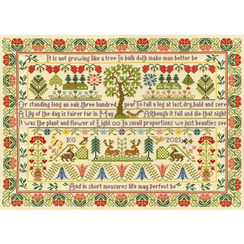 Bothy Threads Borduurpakket Moira Blackburn - Oak Tree - Bothy Threads