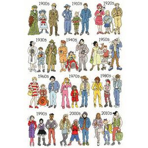 Bothy Threads Borduurpakket Pete Smith - Fashion Through The Decades - Bothy Threads