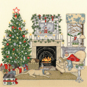 Bothy Threads Borduurpakket Sally Swannell - Christmas Eve - Bothy Threads